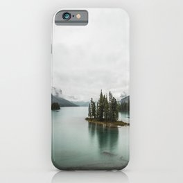 Landscape Photography   Spirit Island   Maligne Lake   Jasper Alberta   Emerald Water   Wall Art iPhone Case