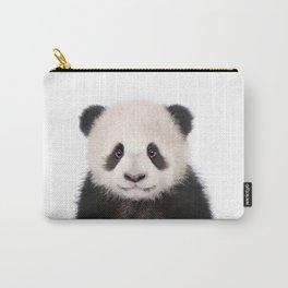 Baby Panda Bear Art Print by Zouzounio Art Carry-All Pouch