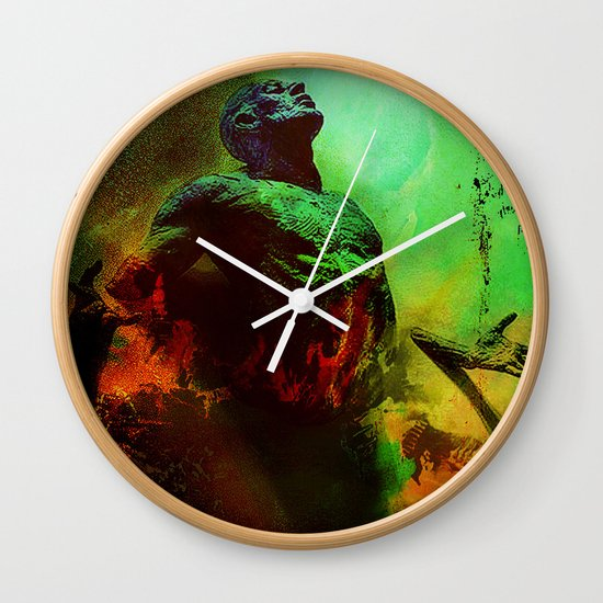 Soul in the purgatory Wall Clock