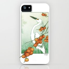 Egret and Persimmons iPhone Case