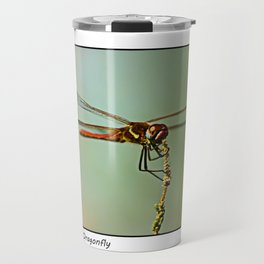 The Spanish Red Dragon Fly Travel Mug