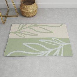 Laurel Leaves in Balance - Sage Green  Rug