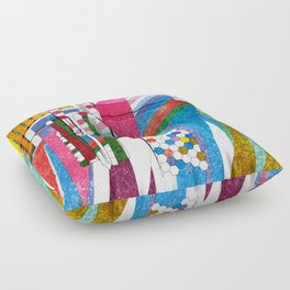 graphic bordello Floor Pillow
