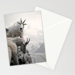 Hi, we are the mountain goats Stationery Cards
