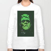 frankenstein Long Sleeve T-shirts featuring Frankenstein by Bryce Reynolds