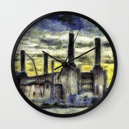 Battersea Power Station Art Wall Clock