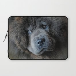 Watching Master - Blue Chow Chow Laptop Sleeve
