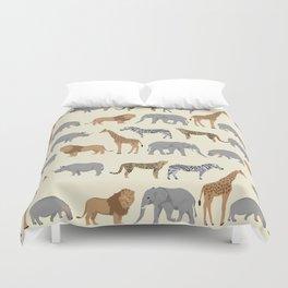 Safari animal minimal modern pattern basic home dorm decor nursery safari patterns Duvet Cover