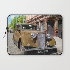 Vintage car and English Pub Laptop Sleeve
