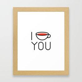 I Coffee You - Love, Coffeeholic Framed Art Print