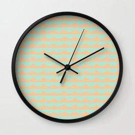 Peach Scallops Wall Clock