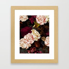 Vintage & Shabby Chic - Midnight Rose and Peony Garden Framed Art Print