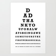 Fathers Day Gift - Eye Test Art Print