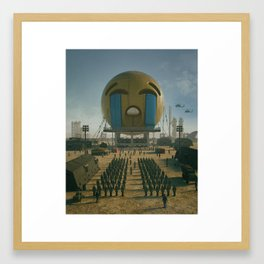 EMOJI WARFARE (everyday 03.10.18) Framed Art Print