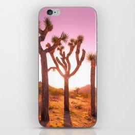 Three Sisters at Sunset- Joshua Tree Edition iPhone Skin