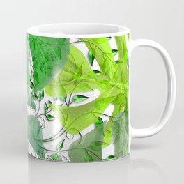 PALM LEAF B0UNTY GREEN AND WHITE Coffee Mug