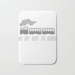 On My Way To Work - Commuter Retro Steam Train Bath Mat