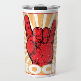 Funny Sign Of The Horns Fingers Travel Mug