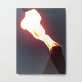 Tiki torch time Metal Print
