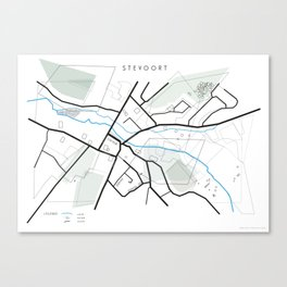 Map of Stevoort. Canvas Print