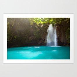 The Kawasan Falls, Cebu, Philippines Art Print