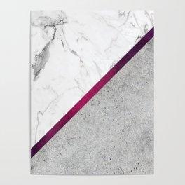 Marbleized Poster
