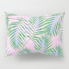 Fern Leaves Pink Pillow Sham