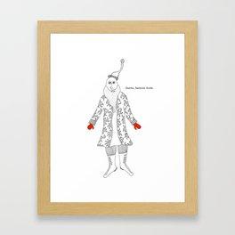 Santa, fashion dude Framed Art Print