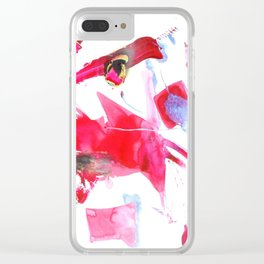Abstract Painting Universes Collide Clear iPhone Case