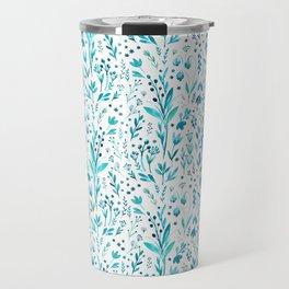 Blue primroses, aromatic herbs Travel Mug