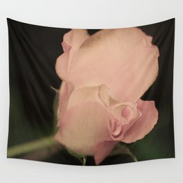 105 - one pink rose Wall Tapestry
