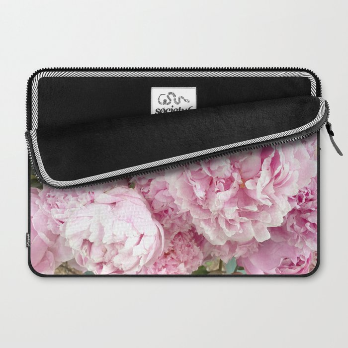 ce7f699dc6f9 Pink Shabby Chic Peonies - Garden Peony Flowers Wall Prints Home Decor  Laptop Sleeve
