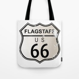 Flagstaff Route 66 Tote Bag
