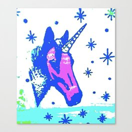 Neon unicorn Canvas Print