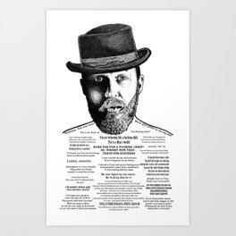 Alfie Solomons Ink'd Series Art Print