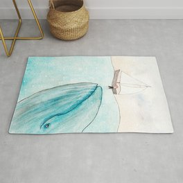 Whale watching Rug