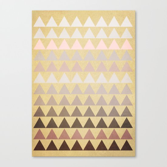Muted Triangles Canvas Print