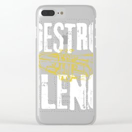 Funny Trumpet Player Marching Band Silence Destroy print Clear iPhone Case