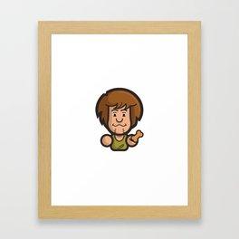 Shaggy Simple Toon Framed Art Print