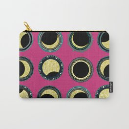 solar eclipse mandala pink Carry-All Pouch