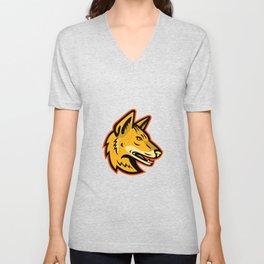 Arabian Wolf Head Mascot Unisex V-Neck