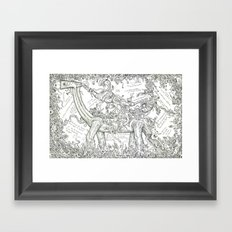 Introduction to the doodle Framed Art Print