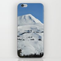 skiing iPhone & iPod Skins featuring Back-Country Skiing  - VI by Alaskan Momma Bear