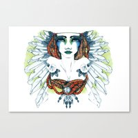 indie Canvas Prints featuring Indie by chiara costagliola