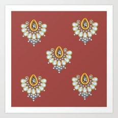 Hindi Pattern Art Print