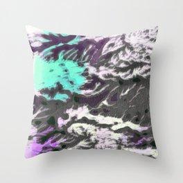 Aqua & Violet Thicket Throw Pillow