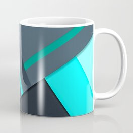 material design turquoise and gray turquoise lines geometric shapes lollipop triangles creative str Coffee Mug