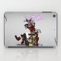 mad hatter iPad Cases featuring The Mad Mad Hatter by Jeanine Henning
