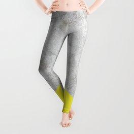 Geometric Concrete Arrow Design - Yellow #193 Leggings