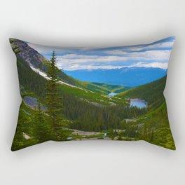 Looking over lower Geraldine Lakes in Jasper National Park, Canada Rectangular Pillow